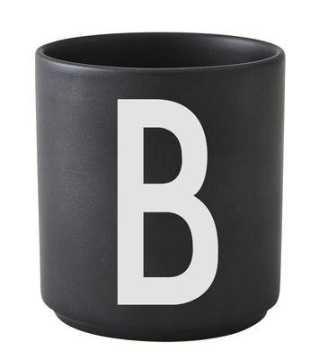 Becher Arne Jacobsen Buchstabe B Schwarze Entwurfs-Buchstaben Arne Jacobsen