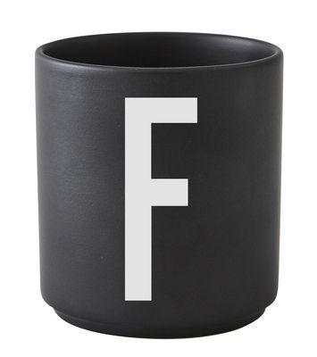 Mug Arne Jacobsen Letter F Black Design Letters Arne Jacobsen