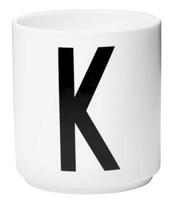 Mug Arne Jacobsen Letter K White Design Letters Arne Jacobsen