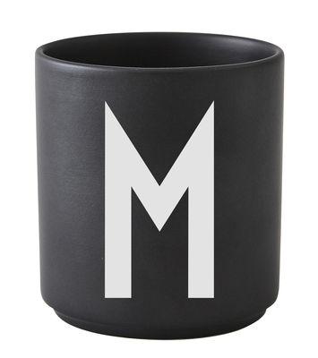 Mug Arne Jacobsen Lettera M Nero Design Letters Arne Jacobsen