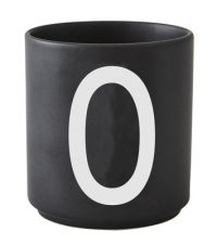 Taza Arne Jacobsen Letra O Black Design Letters Arne Jacobsen