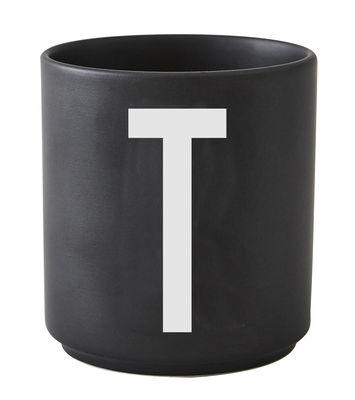Κούπα Arne Jacobsen Επιστολή T Μαύρη Σχεδίαση Επιστολές Arne Jacobsen