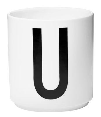 Taza Arne Jacobsen Letra U White Design Letters Arne Jacobsen