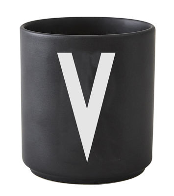 Κούπα Arne Jacobsen Επιστολή V Μαύρο σχεδιασμό επιστολές Arne Jacobsen