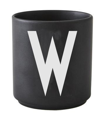 Mug Arne Jacobsen Letter W Black Design Letters Arne Jacobsen