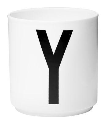 Mug Arne Jacobsen Letter Y White Design Letters Arne Jacobsen