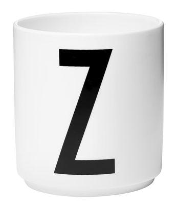 Mug Arne Jacobsen Letter Z White Design Letters Arne Jacobsen
