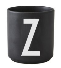 Caneca Arne Jacobsen letra Z preto Design letras Arne Jacobsen