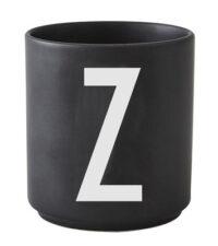 Taza Arne Jacobsen Letra Z Letra negra del diseño Arne Jacobsen