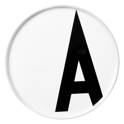 Piatto Arne Jacobsen Lettera A - Ø 20 cm Bianco Design Letters Arne Jacobsen