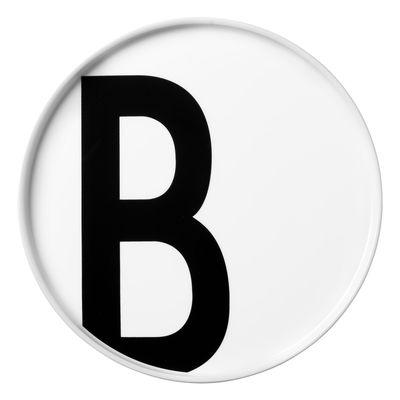 Piatto Arne Jacobsen Lettera B - Ø 20 cm Bianco Design Letters Arne Jacobsen