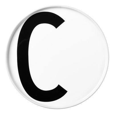 Arne Jacobsen plate Letter C - Ø 20 cm White Design Letters Arne Jacobsen
