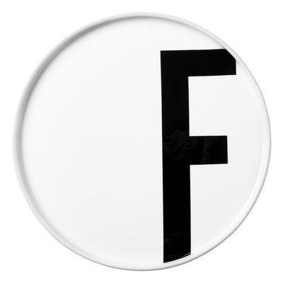 Placa de Arne Jacobsen Letra F - Ø 20 cm Letras de Design Branco Arne Jacobsen