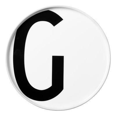 Arne Jacobsen plate Letter G - Ø 20 cm White Design Letters Arne Jacobsen