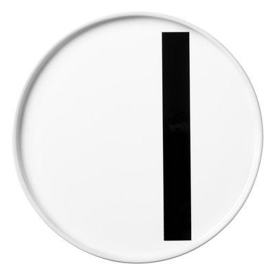 Arne Jacobsen plate Letter I - Ø 20 cm White Design Letters Arne Jacobsen