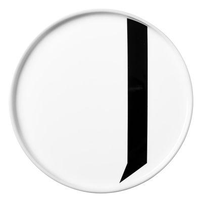 Arne Jacobsen plate Letter J - Ø 20 cm White Design Letters Arne Jacobsen