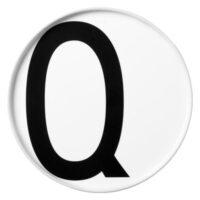 Arne Jacobsen Plate Letter Q - Ø 20 cm White Design Letters Arne Jacobsen