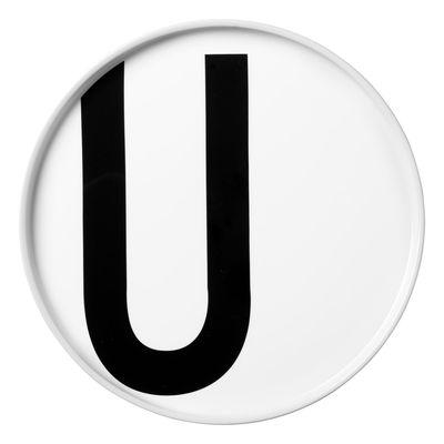 Arne Jacobsen Teller Buchstabe U - Ø 20 cm Weiß Design Letters Arne Jacobsen