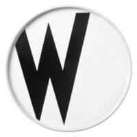 Arne Jacobsen Teller Buchstabe W - Ø 20 cm Weiß Design Letters Arne Jacobsen