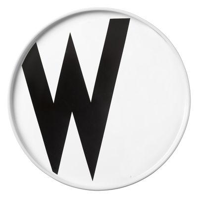 Placa Arne Jacobsen Letra W - Ø 20 cm Letras brancas de design Arne Jacobsen