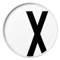 Placa Arne Jacobsen Letra X - Ø 20 cm Letras blancas de diseño Arne Jacobsen