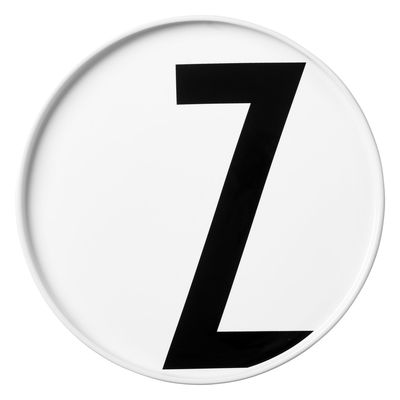Πλάκα Arne Jacobsen Γράμμα Z - Ø 20 cm Λευκό Σχεδιασμός Επιστολές Arne Jacobsen