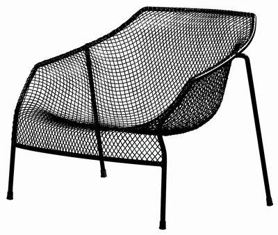 Black Emu Heaven low armchair Jean-Marie Massaud 1