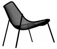 Low armchair Round Black Emu Christophe Pillet 1