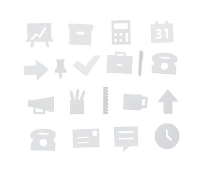Office symbols set - for perforated panel White Design Letters
