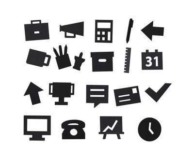 Jeu de symboles Office - pour panneau perforé Lettres Black Design