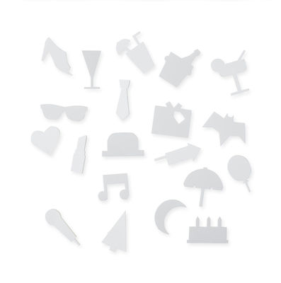 Party symbols set - for perforated panel White Design Letters