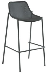 High stool Round Antique iron Emu Christophe Pillet 1