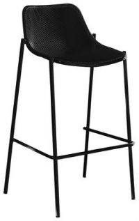 High stool Round Black Emu Christophe Pillet 1