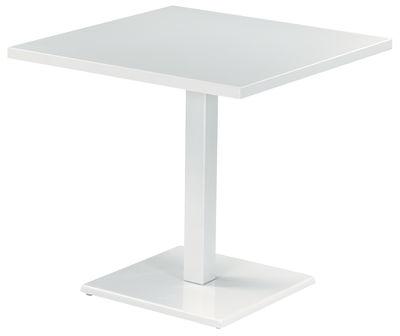 ラウンドテーブル80 80センチのxホワイトエミュークリストフ・ピエ1