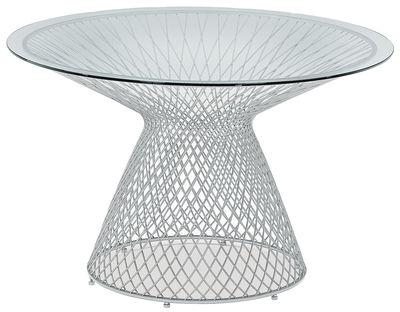 Aluminium Emu Jean-Marie Massaud 120 de table ronde ciel Ø 1