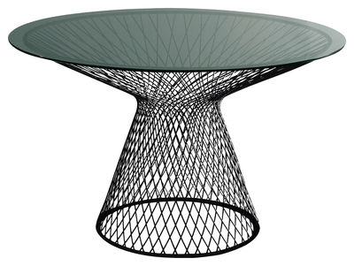 ラウンドテーブル天Ø120センチブラックエミュージャン=マリー・マソー1