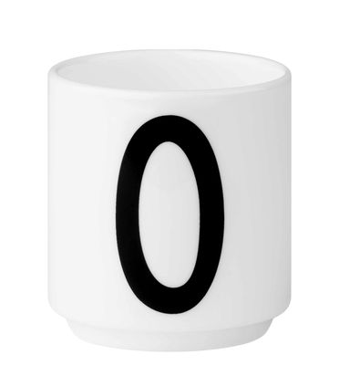 Arne Jacobsen coffee cup Number 0 White Design Letters Arne Jacobsen