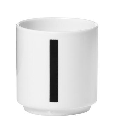 Φλυτζάνι καφέ Arne Jacobsen Αριθμός 1 Λευκή σχεδίαση επιστολών Arne Jacobsen