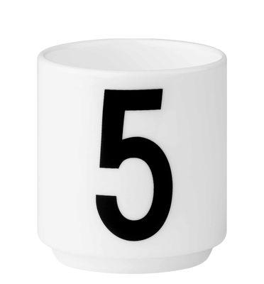 Arne Jacobsen Tasse à café Numéro 5 Blanc Design Lettres Arne Jacobsen