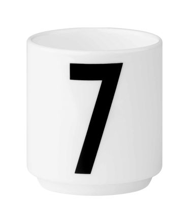 Arne Jacobsen coffee cup Number 7 White Design Letters Arne Jacobsen