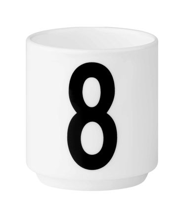 Arne Jacobsen coffee cup Number 8 White Design Letters Arne Jacobsen