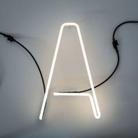 Lâmpada de parede Alphafont - letra A Bianco Seletti BBMDS