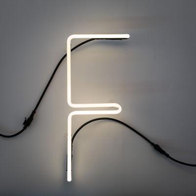 Alphafont Wall Lamp - Letter F White Seletti BBMDS