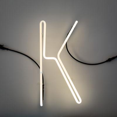 Lâmpada de parede Alphafont - letra K White Seletti BBMDS