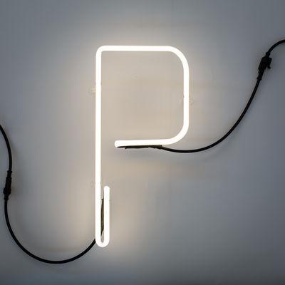 Lâmpada de parede Alphafont - Letra P Branco Seletti BBMDS