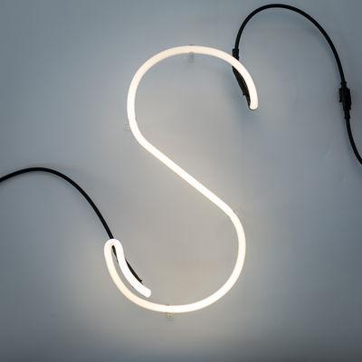 Lâmpada de parede Alphafont - letra S White Seletti BBMDS