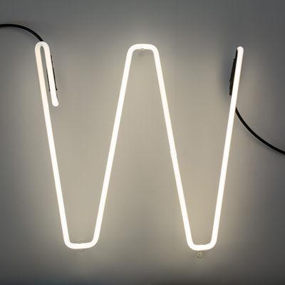 Lâmpada de parede Alphafont - Letra W Branco Seletti BBMDS