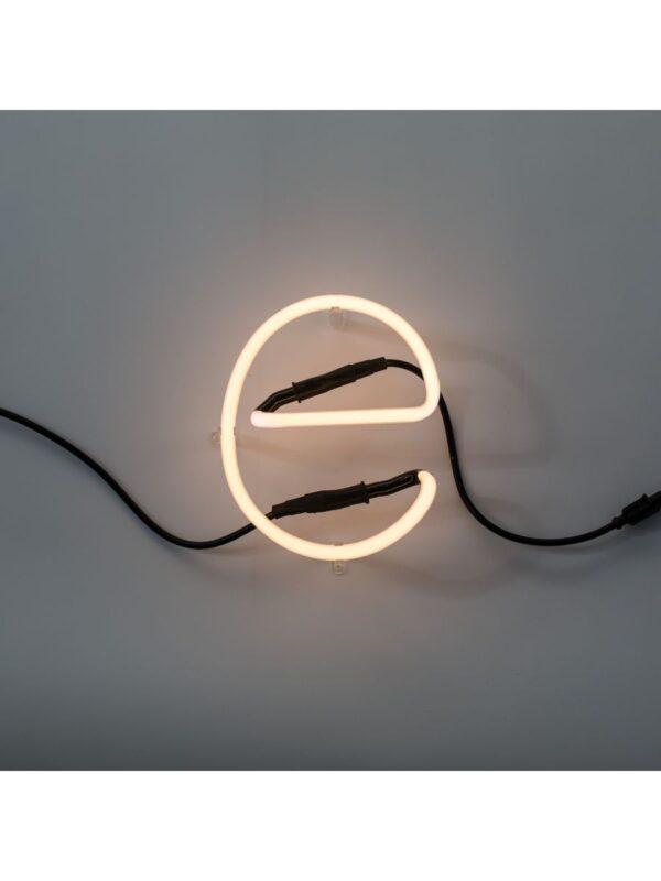 Neon Art Applique - Letter E White Seletti Selab