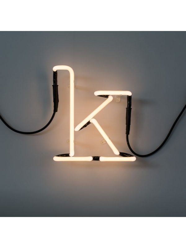 Lámpara de pared de arte neón - Letra K Seletti Selab blanco