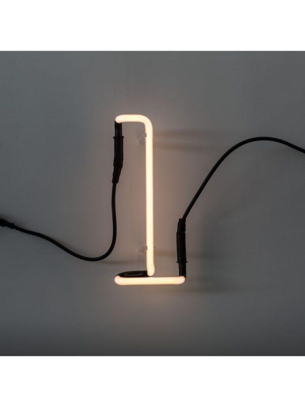 Neon Art Wall Lamp - Επιστολή L Λευκό Seletti Selab